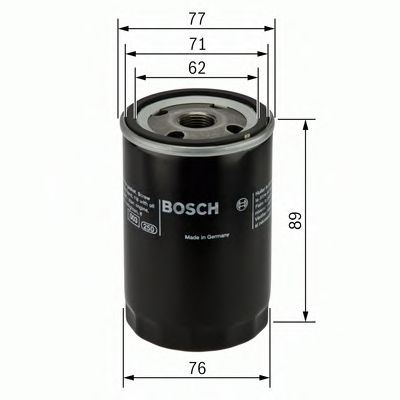 BOSCH Oil Filter 0 986 452 044