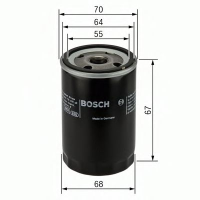 BOSCH Oil Filter 0 986 452 058