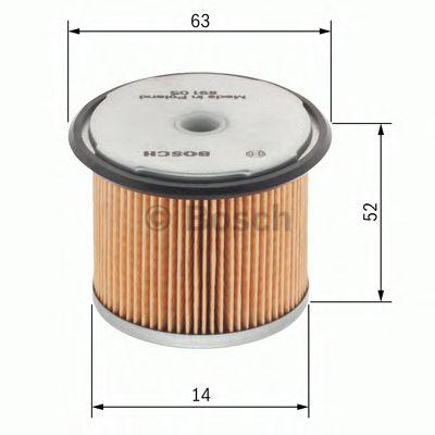 BOSCH Fuel filter 1 457 431 028